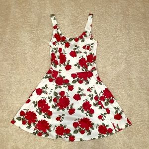 Dress with red roses